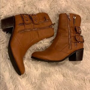 Booties with Gold Buckles